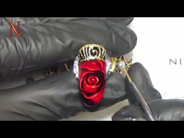 """Материалы для дизайна ногтей on Instagram: """"😍 Красиво! 🌟 Золото и розы 🌹 - прекрасное сочетание для подарка любой девушке и женщине. 💝 Дарите счаст..."""