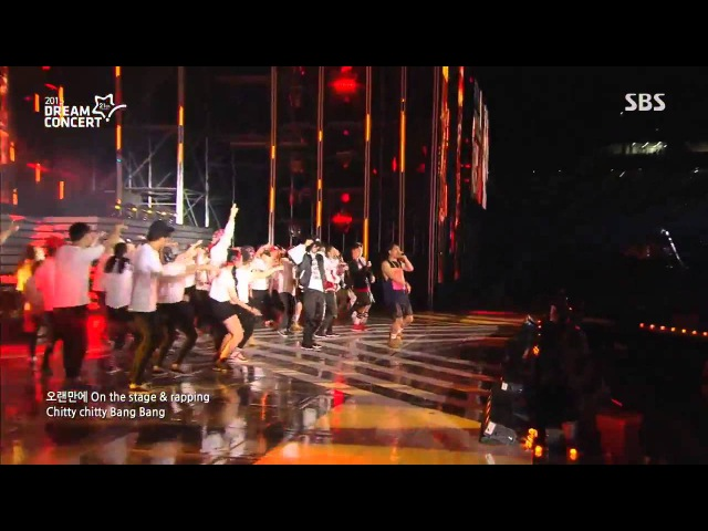 MFBTY ft. LE (EXID) Suga Rap Monster (BTS) Baro (B1A4) - Monster @ SBS 2015 Dream Concert