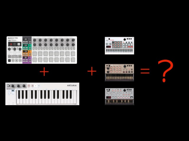 Arturia BeatStep Pro, Keystep and Volcas in sync