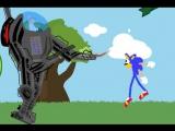 Sonic mania green hill act 2 eggman boss (ресуем мультфильмы)
