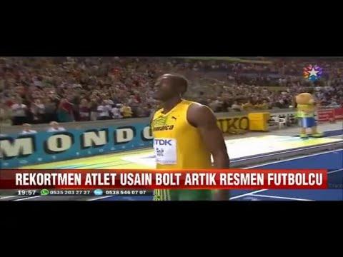 Rekortmen efsane atlet Usain Bolt artık resmen futbolcu