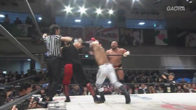 Kzy, U-T vs. Yasushi Kanda, Takashi Yoshida (Dragon Gate - Fantastic Gate 2017 - Day 4)