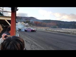 Daigo Saito Crash - Ebisu Drift Matsuri (12.11.2017)