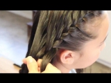 Feathered Triple French Braid