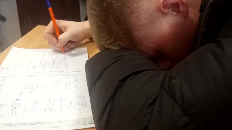 Студень умеет одновременно и спать и писать...