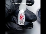 Дизайн ногтей Зимняя рябина