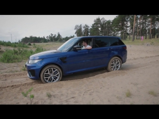 Range Rover Sport SVR и Toyota Land Cruiser 100 на песке TopAuto
