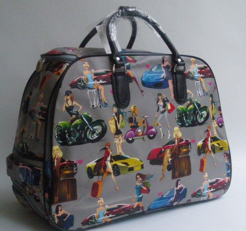 ✔Стильная дорожная сумка на колесах ✔Размер: 53 см*40 см*29 см  ❗В сумку помещается столько же вещей, как в чемодан среднего размера