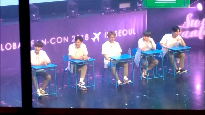 FANCAM | 17.03.18 | A.C.E - School Time 2 @ Fan-con 2018 'Sweet Fantasy' in Seoul