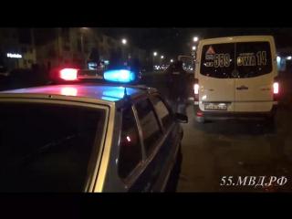 Ночной рейд ГИБДД по проверке маршрутных такси