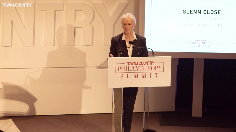 Bring Change 2 Mind Glenn Close Speech at Town Country's fourth annual Philanthropy Summit on May 9, 2017