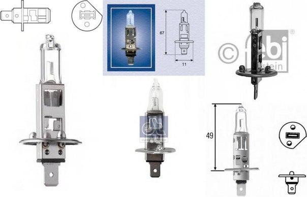Лампа накаливания, проблесковый маячок для AUDI ALLROAD (4BH, C5)