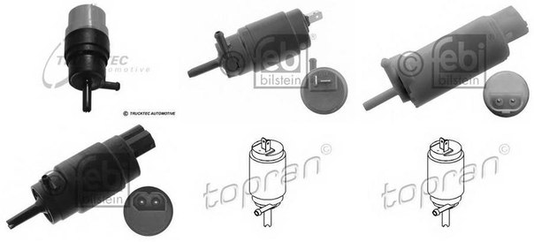 Водяной насос, система очистки окон; Водяной насос, система очистки фар; Водяной насос, система очистки окон для AUDI CABRIOLET (8G7, B4)