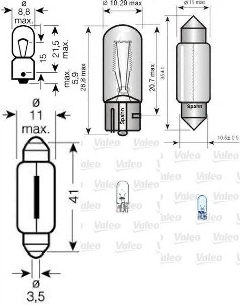 Лампа накаливания, задний гарабитный огонь; Лампа накаливания для AUDI CABRIOLET (8G7, B4)