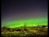 Необычное зрелище - Северное сияние - наблюдали жители Костромской области.