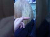 поэтапное выведение темного пигмента с волос ,максимальное сохранение структуры волоса