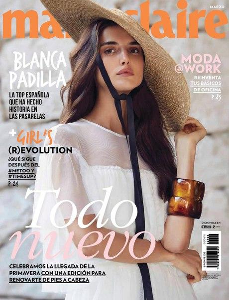 Бланка Падилья в свежем выпуске Marie Claire Mexico / март 2018