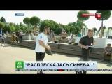 Корреспондента НТВ в прямом эфире ударил пьяный мужчина