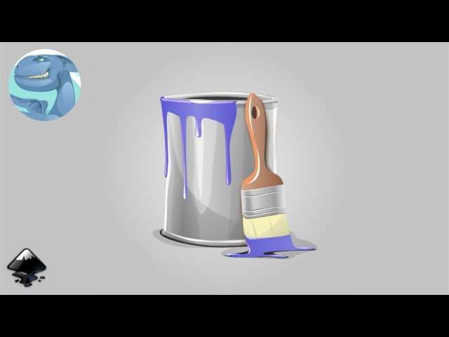 How to draw a paint packaging in Inkscape