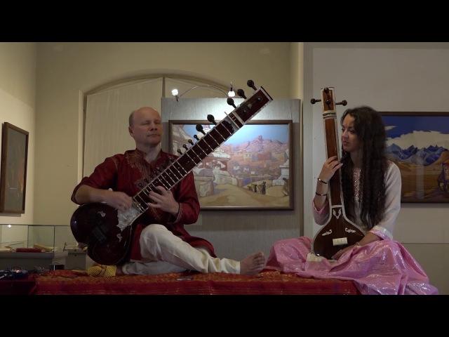 Raga Yaman. Alap. Konanchuk - sitar, Kucherova - tampura. 18.10.17
