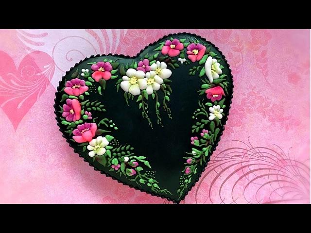 Romantic Heart Cookie Magic Night 🖤🌺🖤