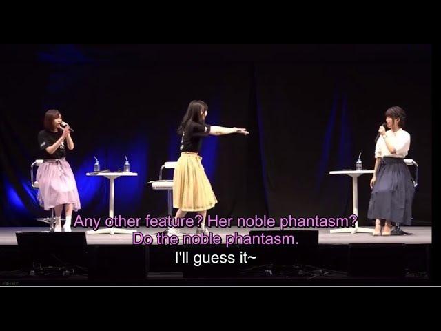 [Eng Sub][FGO Fes. 2017] Seiyuu play charade(Kawasumi, Minami, Takahashi Rie)