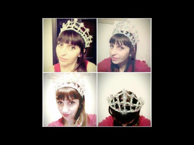 Корона для Снегурочки или Снежной королевы из синельной проволоки/How To Make A Crown/D.I....