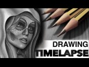 DRAWING TIME LAPSE DAY OF THE DEAD CHRISSY LEE