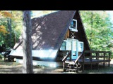 Tiny A-frame Cabin in Conway, New Hampshire | Beautiful Small House Design