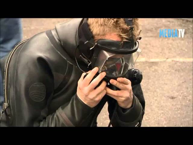 Handsome Black Rubber Drysuit Divers