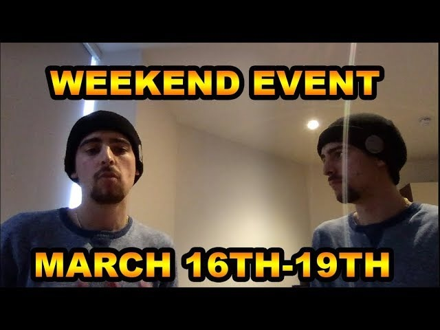 WEEKEND EVENT MARCH 16TH- 19TH IN THE WALKING DEAD NO MAN'S LAND