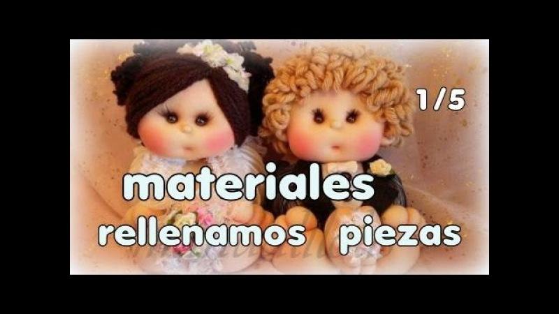 Muñecos novios culoncetes , materiales y rellenado de piezas 1/5, manualilolis video- 240