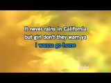 Karaoke It Never Rains In Southern California - Albert Hammond
