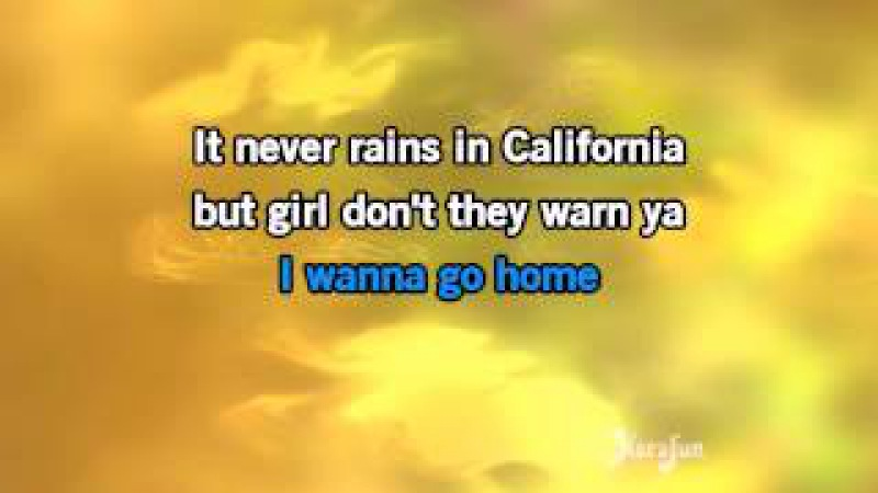 Karaoke It Never Rains In Southern California - Albert Hammond *