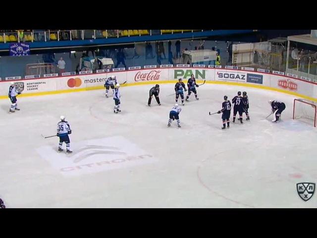 Моменты из матчей КХЛ сезона 16/17 • Удаление. Горан Безина (Медвешчак) получил 2 минуты за опасную игру высоко поднятой клюшкой