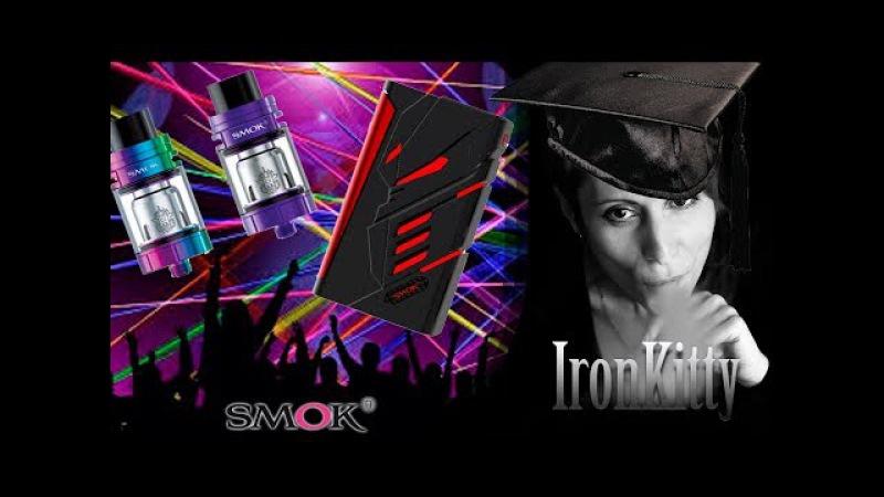 SMOK TFV8 X-Baby T-PRIV 220W MOD / Вейп для Диско)) /LIVE Обзор №6