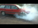 VW passat B3 burnout...