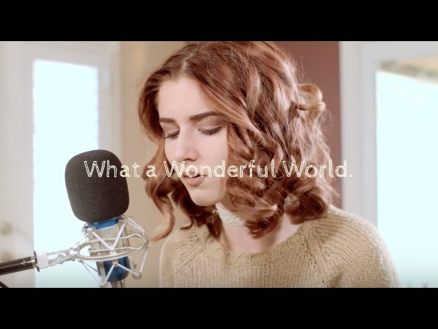 WHAT A WONDERFUL WORLD Louie Armstrong Cover by Abby Ward