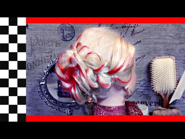 Красная роза | Лайфхак | Авторские причёски | Лена Роговая | Hairstyles by REM | Copyright ©