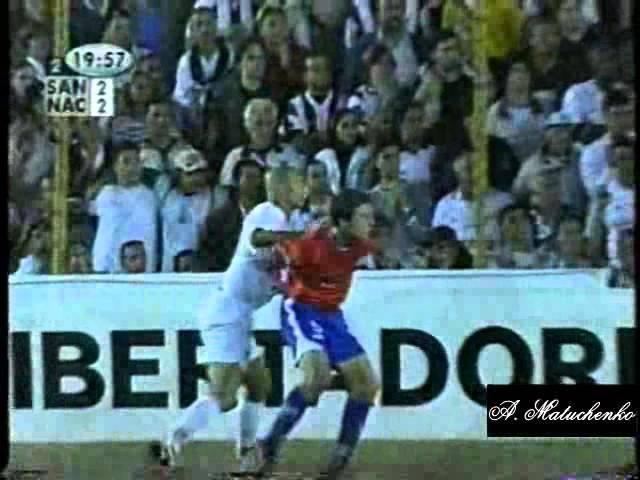 Santos 2 x 2 Nacional URU Libertadores 2003 07 05 03