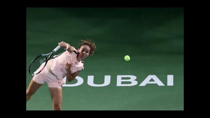 2018 Dubai Quarterfinal Daria Kasatkina vs Elena Vesnina WTA Highlights