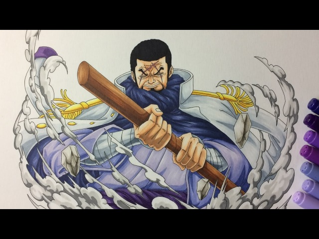 Drawing Admiral Fujitora (Issho) - One Piece