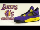 Custom Laker Jordan 4's - Customs by Vick