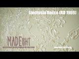 Lincrusta Rocco RD 1969, белая линкруста с серебряными верхушками