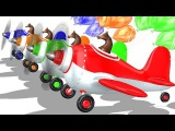 3D Horse Flying Airplane Learn Colors for toddlers Horse Colors Learn With Airplane