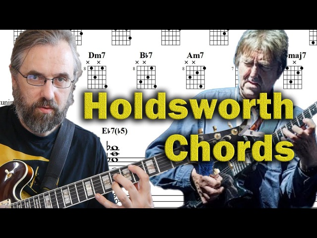 Allan Holdsworth Chords on a Jazz Standard - Advanced Modern Chord Voicings - Guitar Lesson