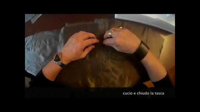 Confezionamento Giacca (con didascalie): 5 - la Fodera del davanti con taschino