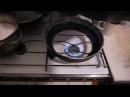 Очаг для чугунного казана на газовую плиту Или Зачем я распилил сковородку Ч 2