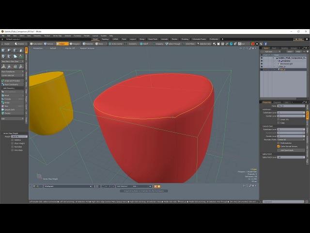 Modo Basics - Subdivision Surfaces and Edge Weighting