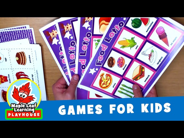 Food Lotto Game for Kids | Maple Leaf Learning Playhouse
